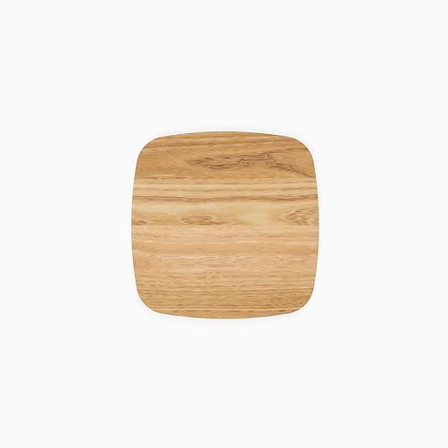 Стільниця дерев'яна TOP, скруглена,  50х50–70х70/2.4см