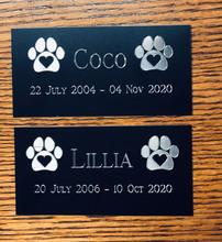 Pet Urn Memorial Plate