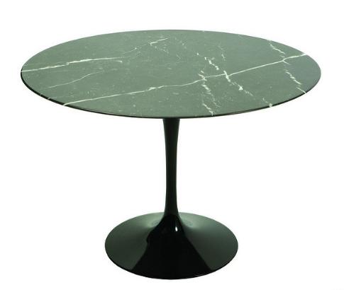Mesa negra tipo mármol