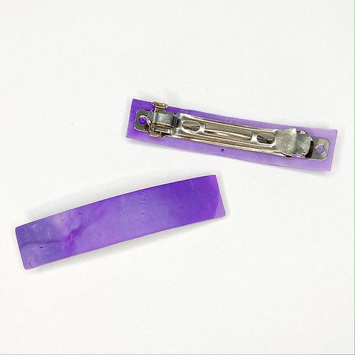 Amethyst Stone Effect Purple Marble Barrette