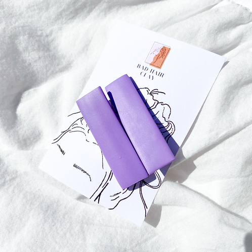 Lavender Plain Purple Crocodile Hair Clips - Set of Two