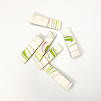 Handmade Polymer Clay Green Pink and White Marble Hair Clips Eco-Friendly No Waste