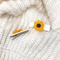 Polymer Clay Handmade Sunflower Hair Clips