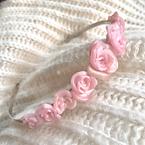 Handmade Polymer Clay Rose Floral Metal Headband