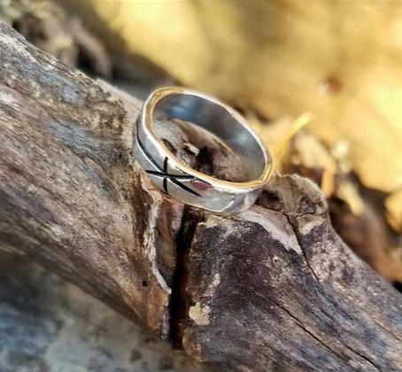 Handmade Sterling Silver Chi Rho Ring