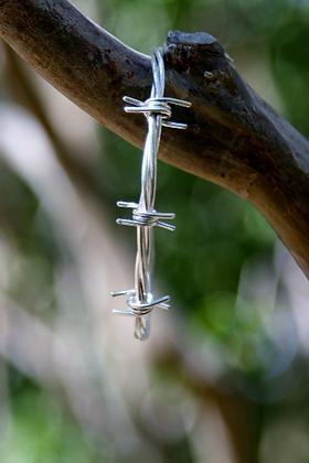Sterling Silver Barbed Wire Cuff/ Bracelet