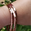 Thumbnail: Triangle Bangle, Bracelet, Fire, Elements, Water, Alchemy, Copper Hammered