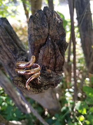 Double Twisted Copper Snake Ring