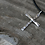 Thumbnail: Hammered Sterling Silver Cross Pendant