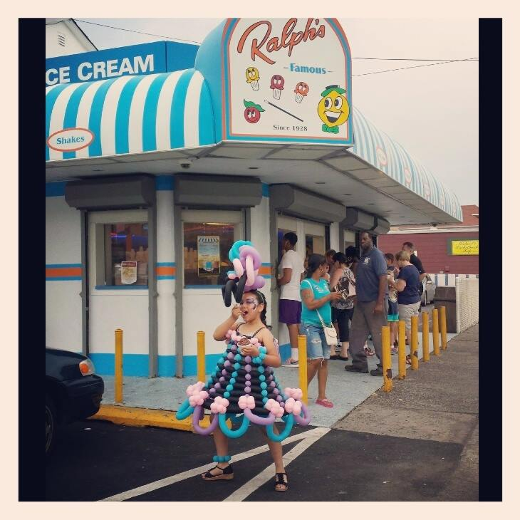 Balloon Dress at Ralph's Ices