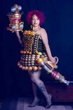 Steampunk Balloon Dress