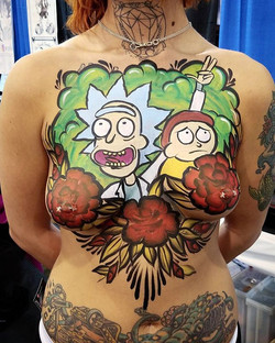 #rickandmorty #bodypaint #facepaint #bod