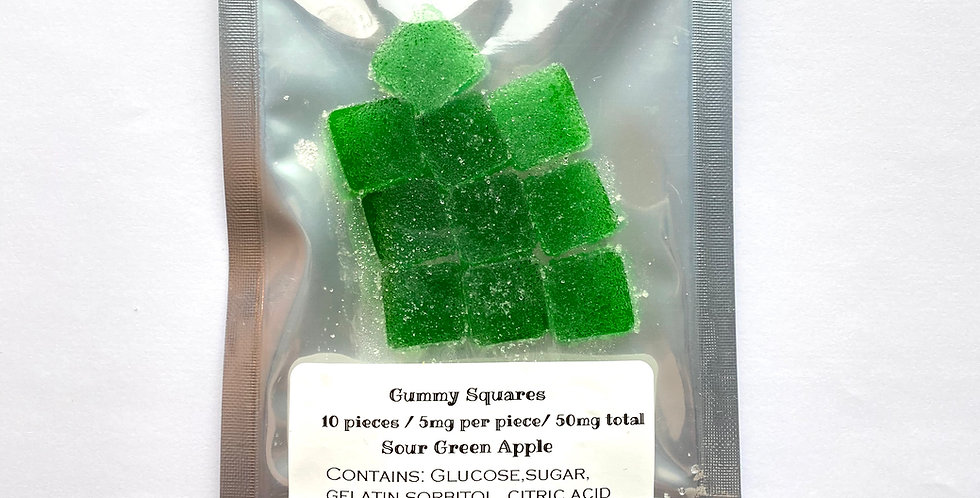 50 mg THC Sour Green Apple Gummies