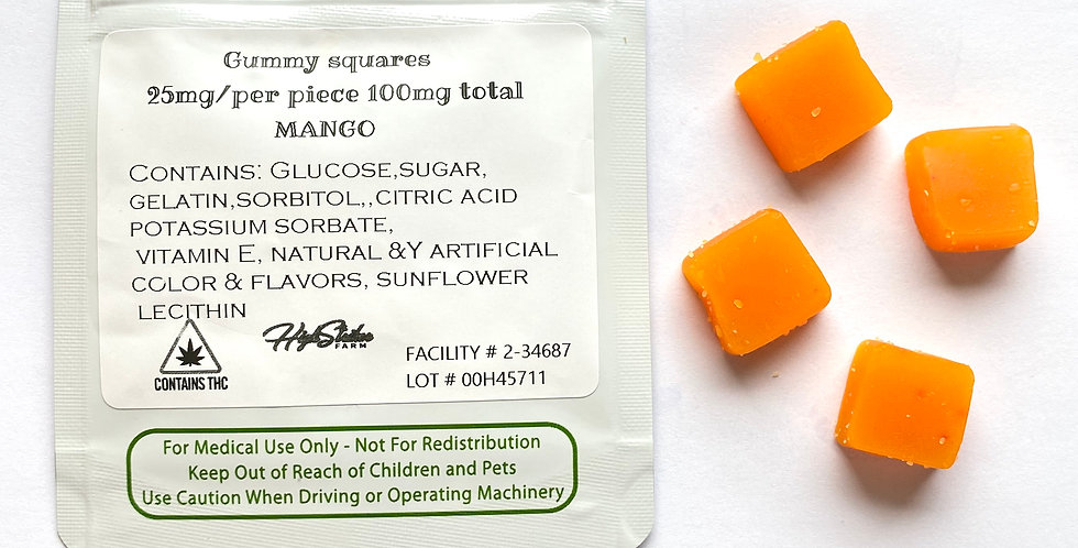 100mg THC Mango Gummies