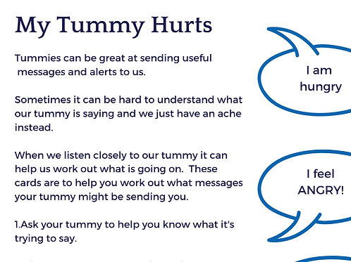 My Tummy Hurts - helping you hear the message your tummy ache is giving you.