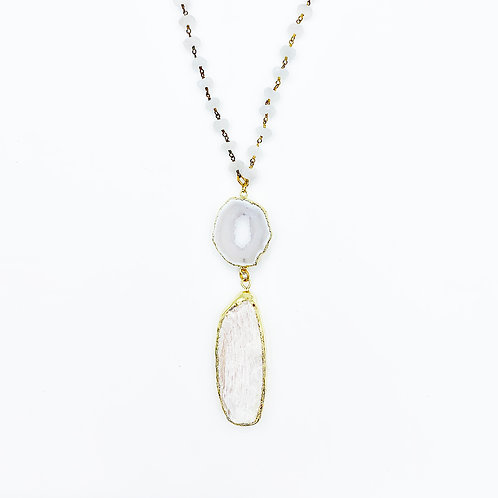 Moonstone Coral Necklace