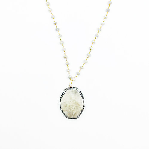 Moonstone Fossil Necklace