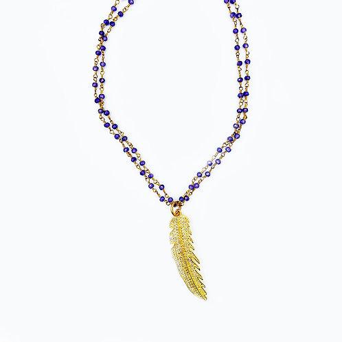 Purple Feather Choker