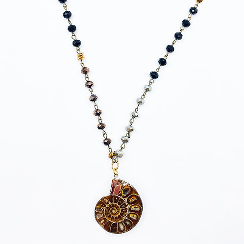 Snail Fossil Necklace