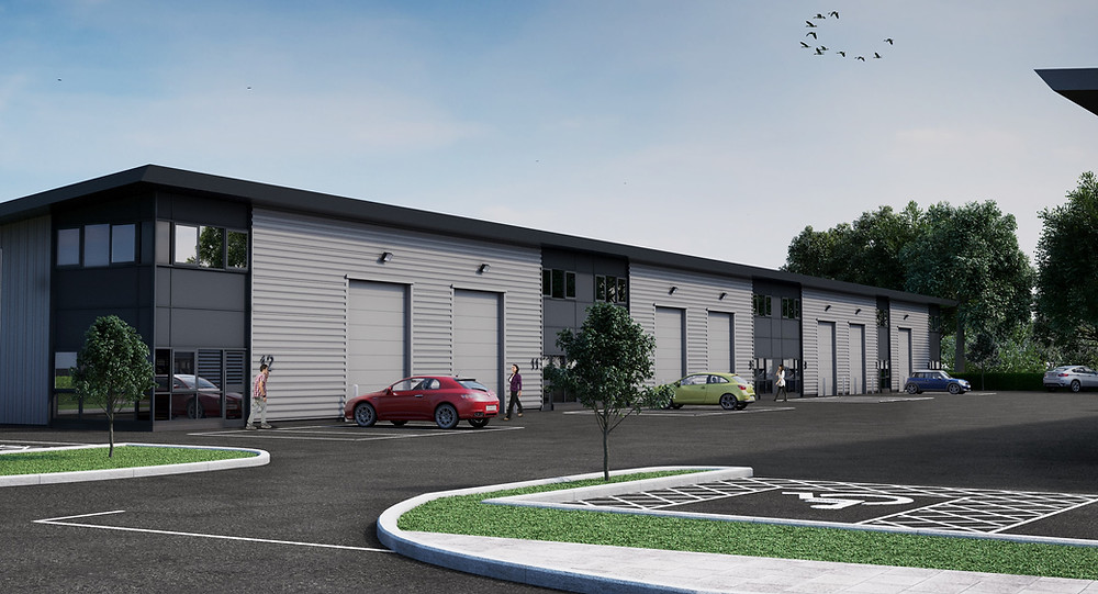 The new speculative industrial units at Doncaster Sheffield Airport