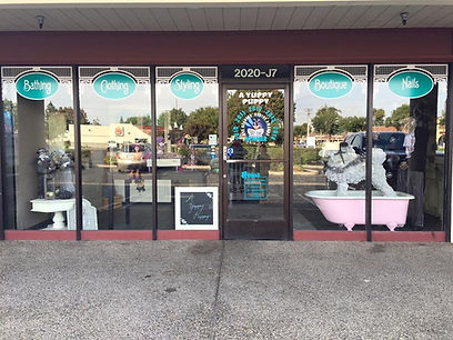 front view of the shop