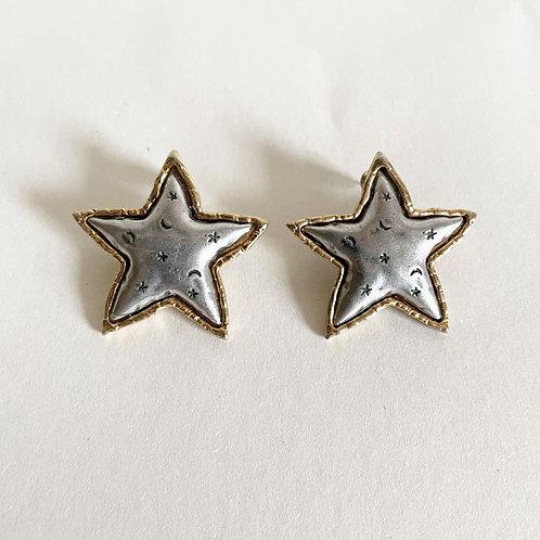 Vintage Celestial Star Earrings