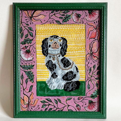 Right Staffordshire Dog Painting