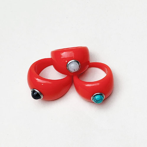 Tutti Frutti Rings - Red