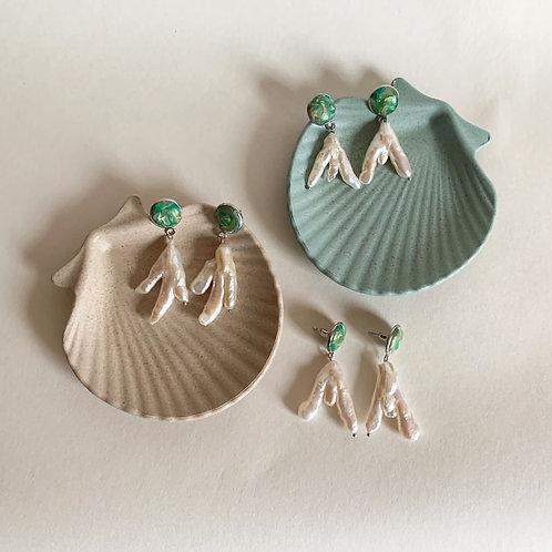 Pájaro Earrings | Green