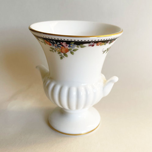 Small Wedgwood Bone China Floral Urn