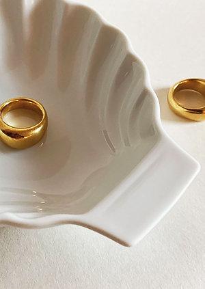 Gold Pebble Ring