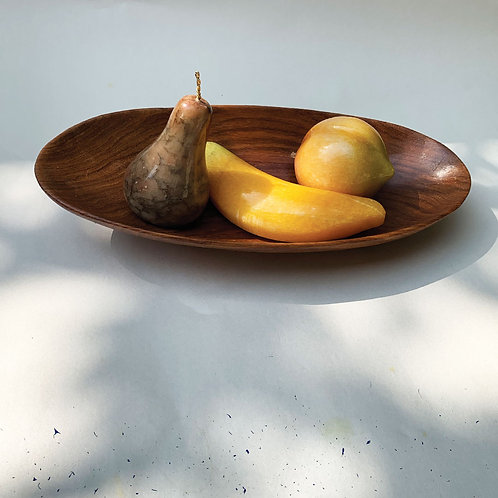 Stone Fruit In A Wood Bowl