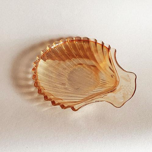 Peach Lustre Shell Dish