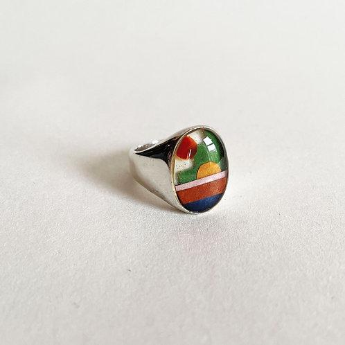 Silver Casa Ring