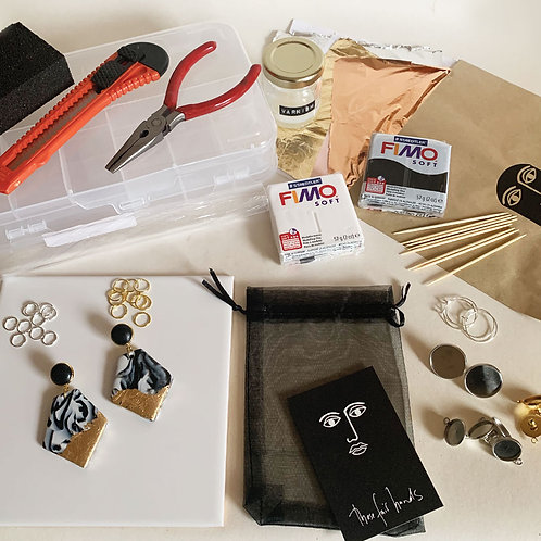 Workshop - Make Your Own Monochrome Earrings at Home!