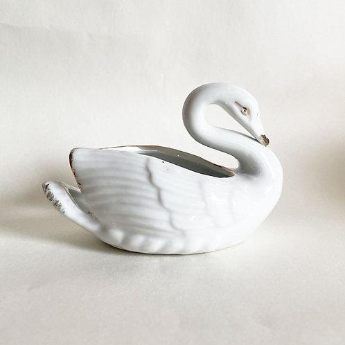 Small Ceramic Swan