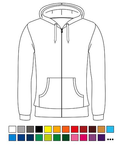 Hoody / Zipper - Blanko - Basic - Standart