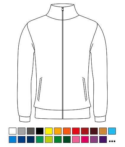 Trainingsjacke / Freizeitjacke - Blanko - Basic - Atmungsaktiv - High-Quality