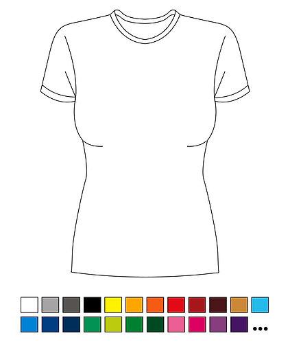 T-Shirt - Lady - Blanko - Basic - Standart