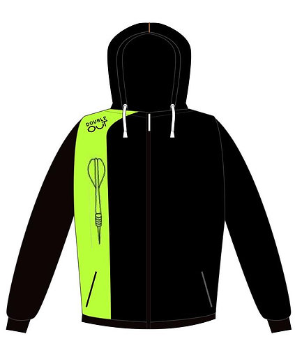 Hoodie - Zipper - Double Out - Neon