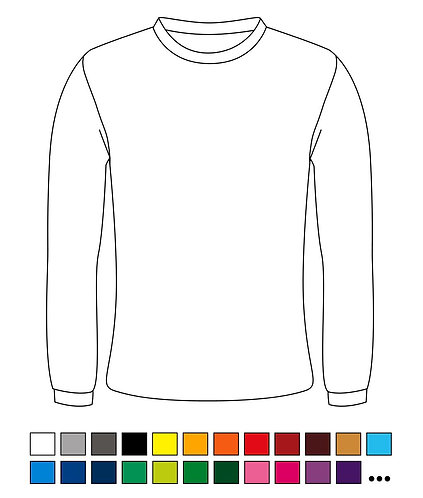 Sweat Shirt - Blanko - Basic - Atmungsaktiv - Standart