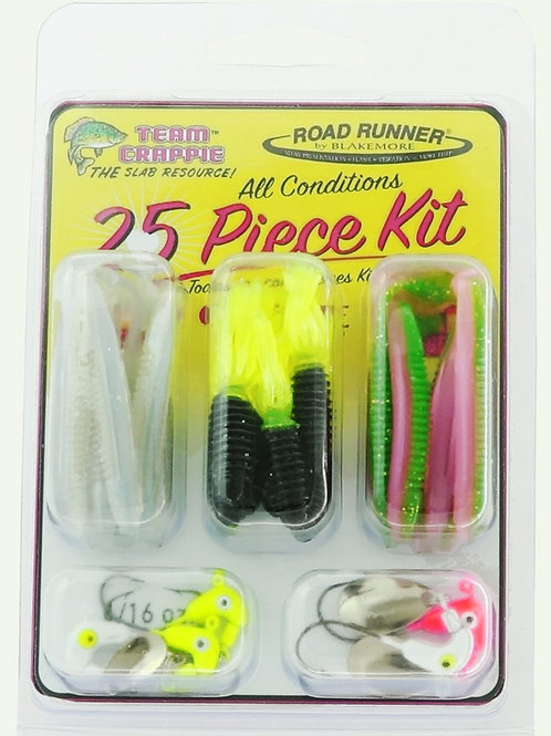 TEAM CRAPPIE 25 Piece All Conditions Kit