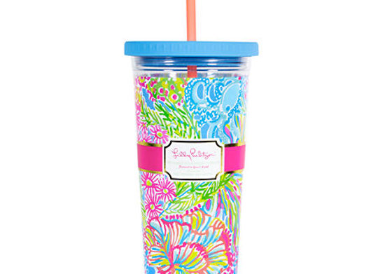Lilly Pulitzer Pattern Insulated Beverage Tumblers