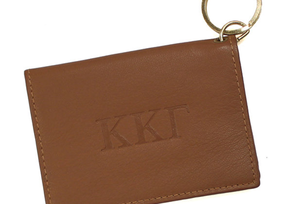 Leather ID/Keyring with ID Window