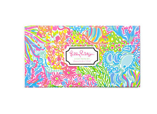Lilly Pulitzer Pattern Sticky Tab Note Set