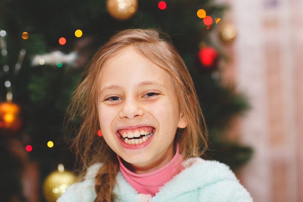 Happy Child at Christmas