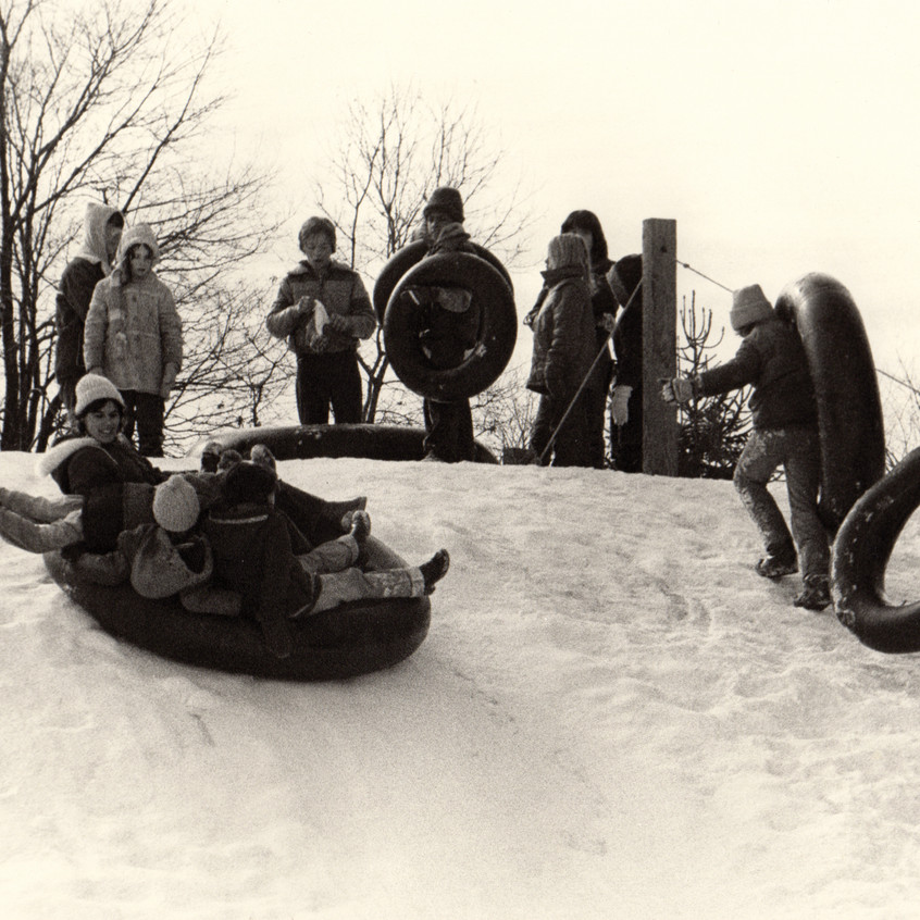 One thing that hasn't changed in 50 years is the children's love for the great outdoors. The sledding hill is still a favorite winter activity in Michigan!