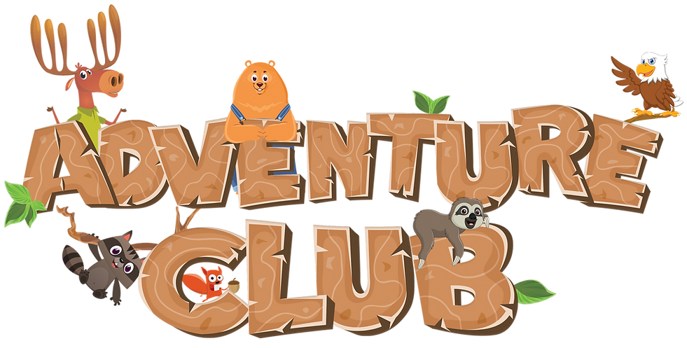 Adventure Club logo with Harvey and Frie