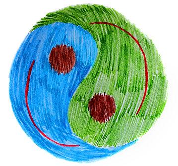 yin yang harmonious earth/world