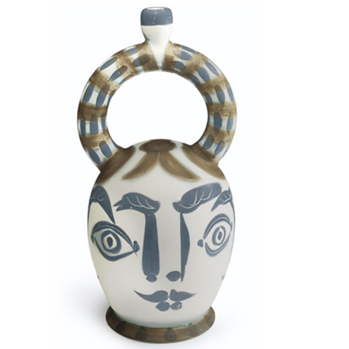 Picasso Ceramic Vase Azteque black and white AR 410